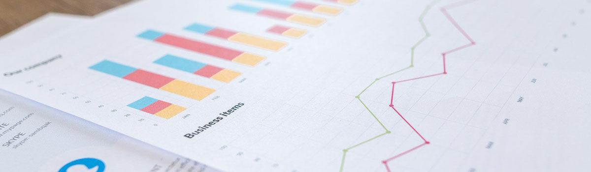 close up side view of business financial report Bergan & Company Property Management Denver, Centennial, Colorado